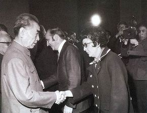 1971-04-14  Zhou Enlai meets US table tennis team