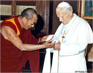 Dalai Lama and John Paul 2