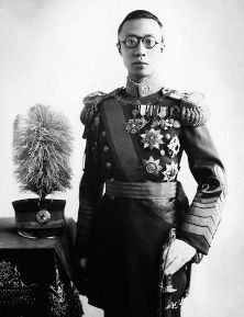 ca. 1940 --- Emperor Pu Yi (known as Henry Puyi in the west) was the last  emperor of China.  He was the first emperor of Manchuko from 1934-35, a puppet monarch for the Japanese. --- Image by © CORBIS