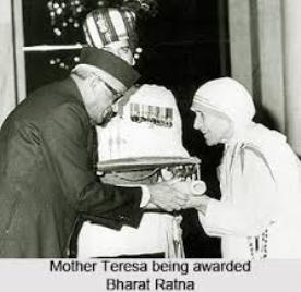 Mother Teresa Bharat Ratna 1980-01-25