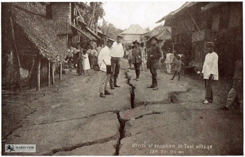 1911-01-30 Taal Volcano eruption