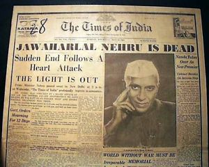 1964-05-27 Death of Nehru
